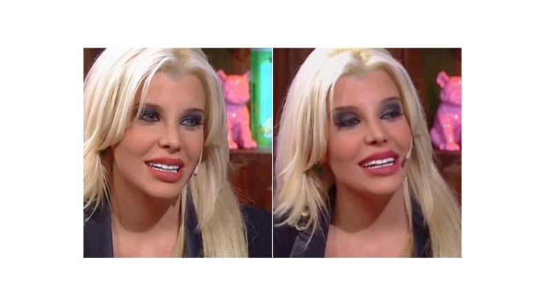 Charlotte Caniggia apareció en televisión y mostró su nuevo rostro