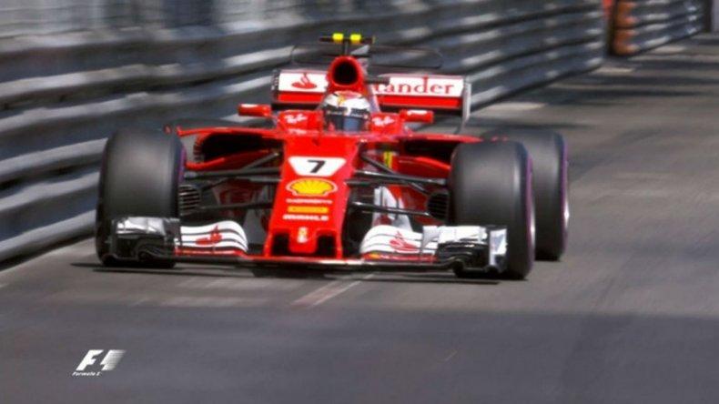 Raikkonen dominó la clasificación con su Ferrari en Montecarlo