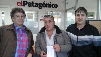 Miguel Goncebatte, Juan Mansilla y Andrés Rybier en su vista a El Patagónico.