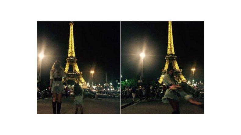 Las tiernas fotos de la China Suárez y su hija Rufina en París con Benjamín Vicuña