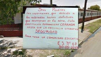 maestros cierran escuelas por reiterados hechos delictivos en la zona