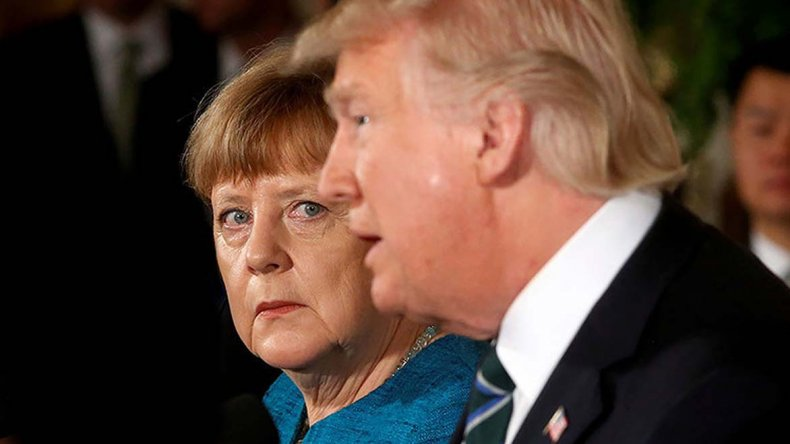 Se endurecen los cruces entre Merkel y Trump.
