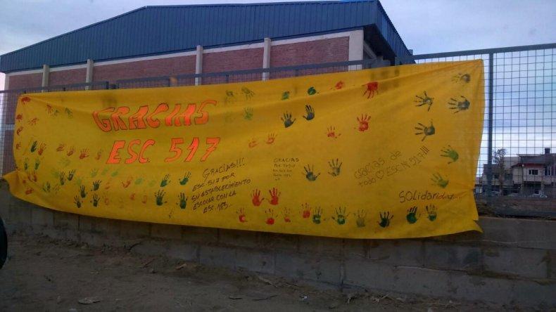 Después de dos meses los chicos de la Escuela 183 volvieron a su edificio
