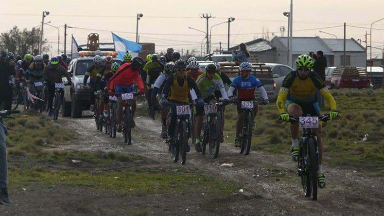 La competencia en Pico Truncado tuvo la presencia de 87 bikers.
