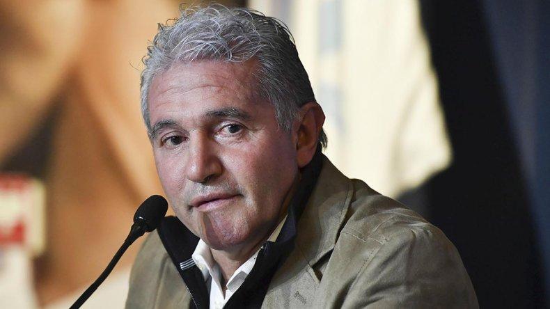 Jorge Luis Burruchaga fue presentado ayer como el flamante manager de la selección argentina.