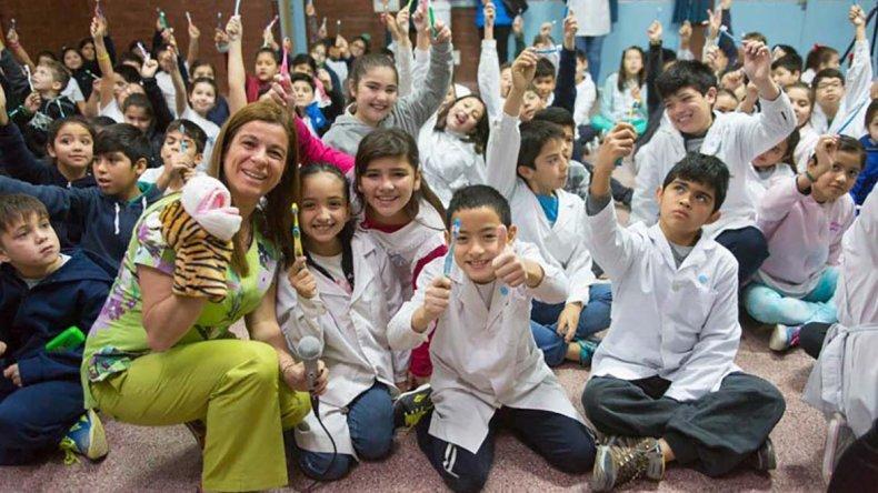 Con gran entusiasmo comenzó el programa de salud bucal en jardines y escuelas de Rada Tilly.