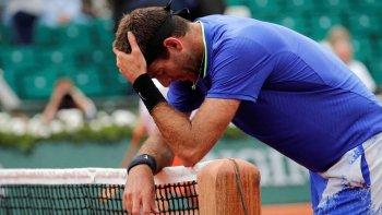 Del Potro se despidió de Roland Garros