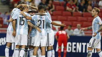 argentina aplasto a singapur por 6 a 0