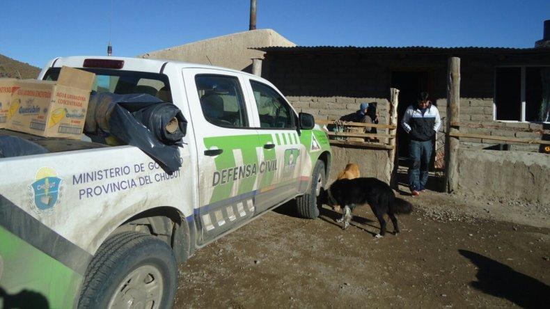 Defensa Civil trabaja ante el pronóstico de lluvia y nieve en Comodoro