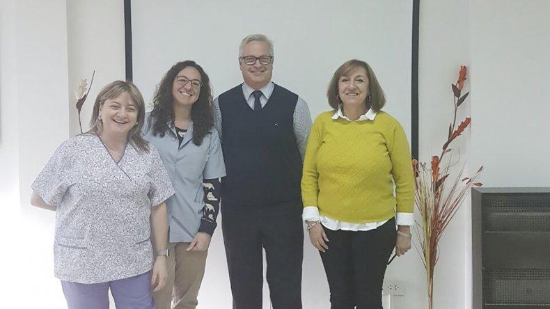 Integrantes de la comisión directiva de la Asociación Bioquímica Clínica de la Zona Sur de Chubut.