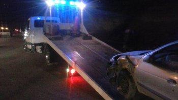 conducia alcoholizado y choco a una camioneta en el camino roque gonzalez