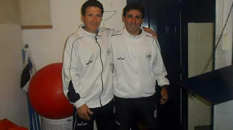 Con Jorge Izquierdo