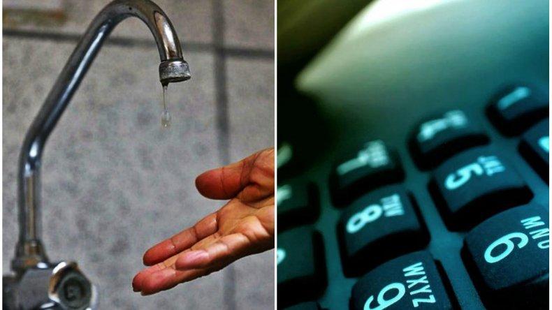 Problemas en la distribución de agua y el servicio telefónico