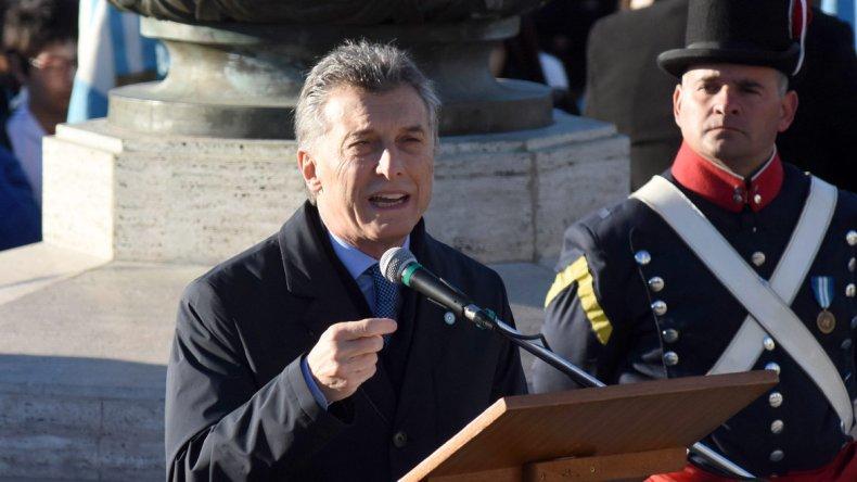 El presidente Mauricio Macri encabezó el acto central por el Día de la Bandera.