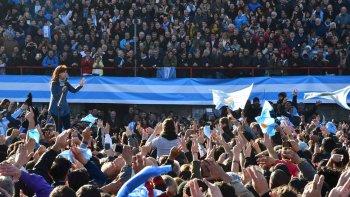 Cristina encabezó el multitudinario lanzamiento del frente Unidad Ciudadana.