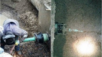 comenzo a ingresar agua a la cisterna que abastece a caleta olivia