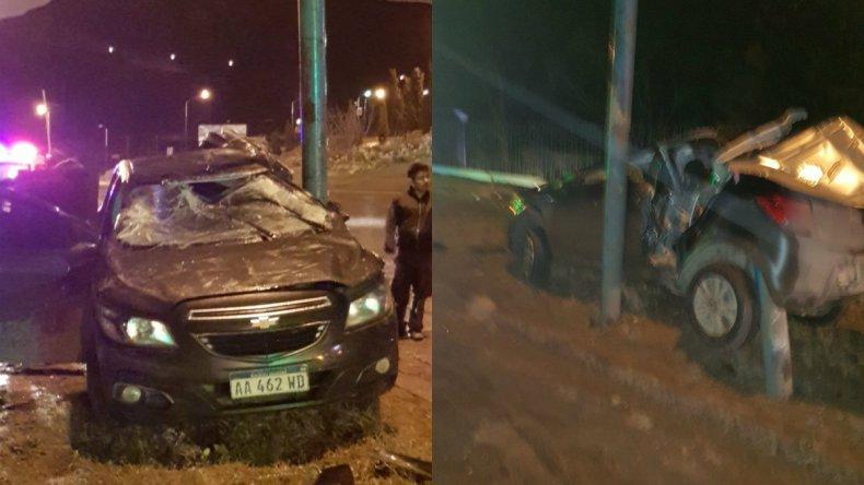 Dos accidentes en el acceso norte al centro de Comodoro