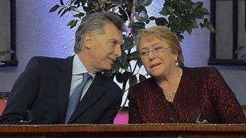 Macri viajó a Chile para encontrarse con Bachelet.