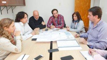 juncos se reunio con concejales para analizar el avance de obras tras el temporal