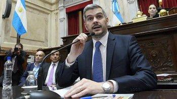 El jefe de Gabinete, Marcos Peña Braun, brindó su informe de gestión ante el Senado.