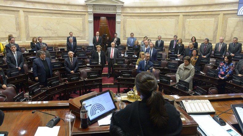 El homenaje que se rindió ayer a Marcelo Guinle en el Congreso de la Nación.
