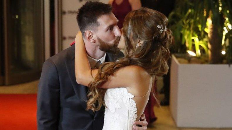 Lionel Messi y Antonela Roccuzzo son marido y mujer