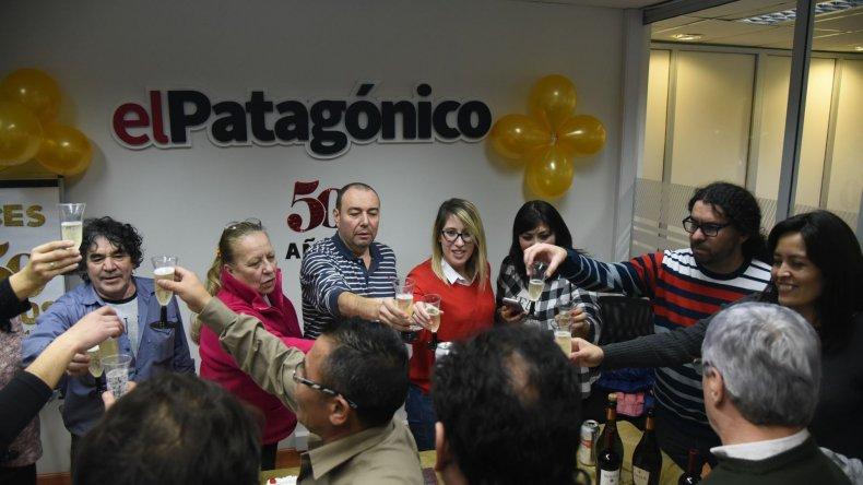 El Patagónico celebra sus 50 años como líder periodístico de la Patagonia Sur