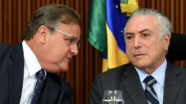 Geddel Vieira Lima y Michel Temer.