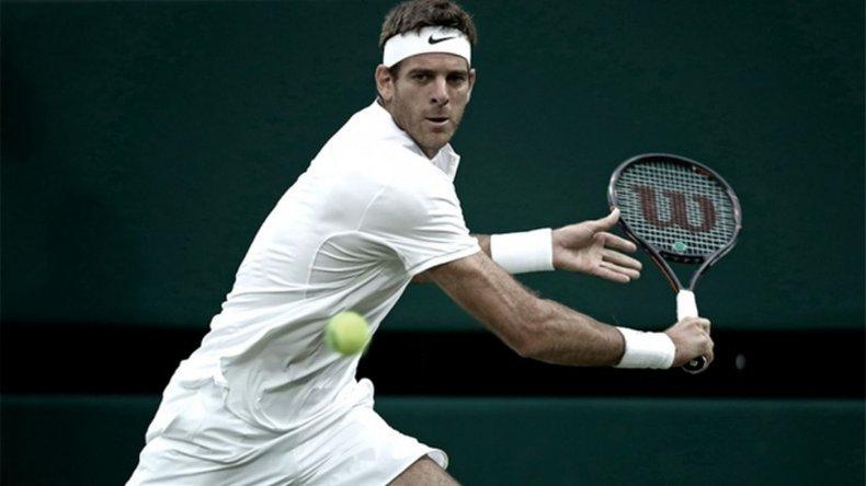 Del Potro debutó con un triunfo en Wimbledon