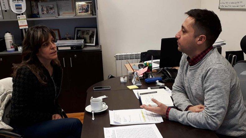 El concejal Nicolás Caridi se reunió con la presidenta de la Asociación de Nutricionistas