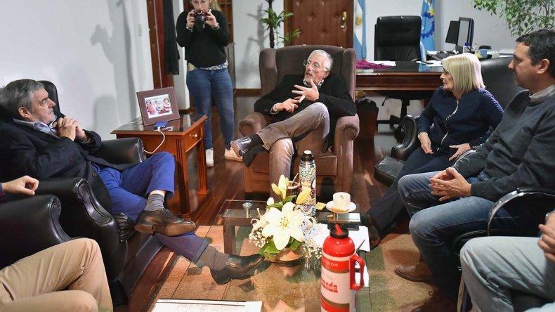 La reunión que el gobernador mantuvo ayer con los diputados provinciales del bloque Chubut Somos Todos.
