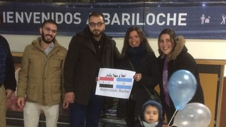 Llegó a Bariloche un refugiado sirio