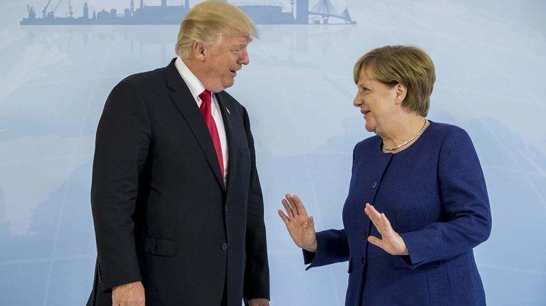 Trump y Merkel se reunieron en la previa de la cumbre del G20.