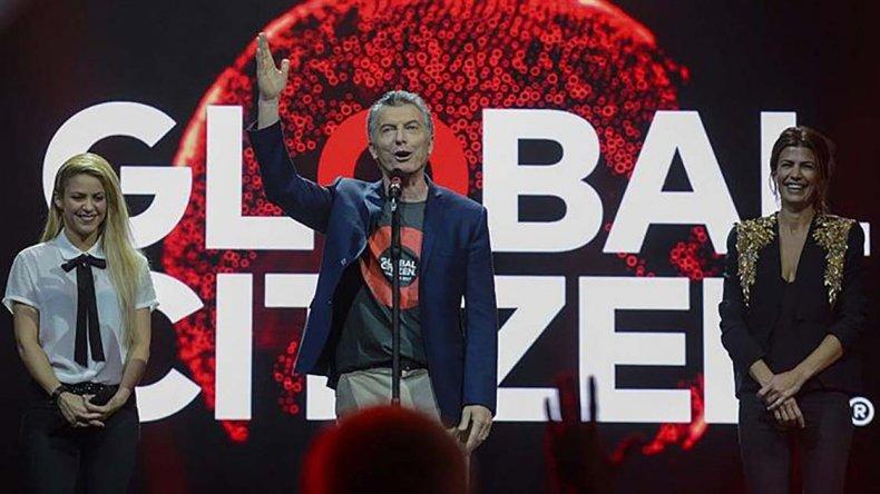 Mauricio Macri estuvo junto a Shakira en el show previo a la cumbre del G-20.