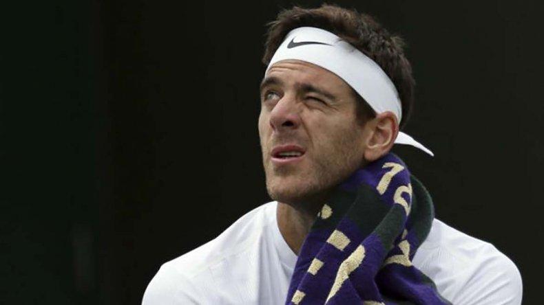 El argentino Juan Martín Del Potro estuvo lejos de su nivel tenístico y por eso quedó eliminado del abierto de Wimbledon.