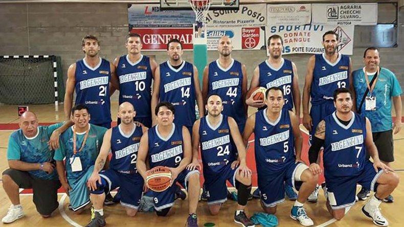 Argentina A se vuelve a Comodoro Rivadavia con un gran segundo puesto en el Mundial de Maxibásquetbol.
