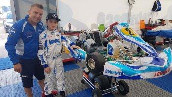 Ignacio Montenegro mejoró sus tiempos en Suecia y sigue sumando experiencia junto al Baby Race.