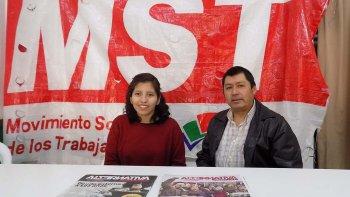 Emilse Saavedra y César Antillanca son los precandidatos a diputados nacionales por el Movimiento Socialista de los Trabajadores. Los integrantes de la Lista 38 fueron presentados ayer en la sede que posee el partido de izquierda.