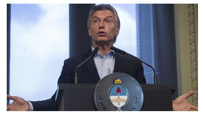 Macri aclaró que prefiere hablar de una hipotética reelección dentro de un año y medio largo.