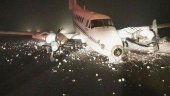 Se despistó un avión privado en Bariloche