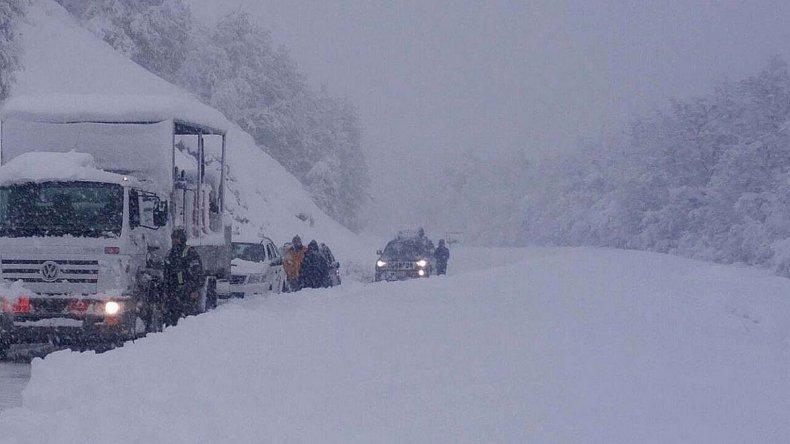 El dificultoso tránsito en las rutas de Neuquén.