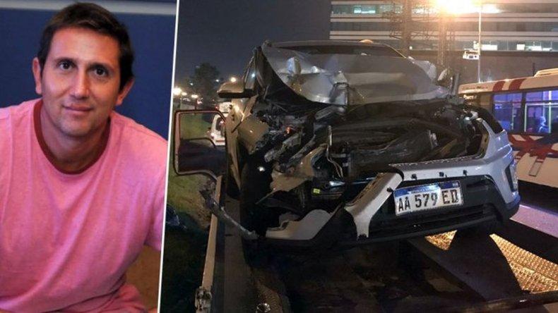 El periodista Juan Pablo Varsky chocó y terminó debajo de un camión