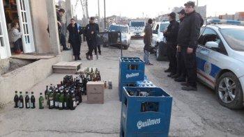 decomisaron 350 litros de bebidas alcoholicas