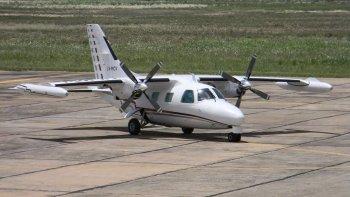 La avioneta desaparecida es un bimotor turbo hélice.