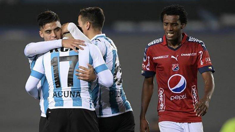 Racing le ganó 3-1 a Independiente Medellín en la ida.