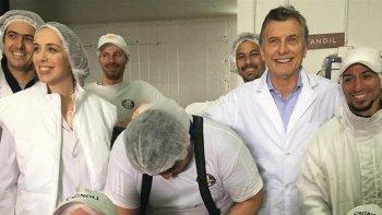Macri visitó una fábrica de embutidos en Tandil.