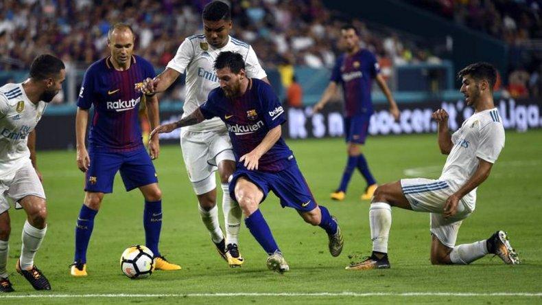 El Barcelona de Messi derrotó al Real Madrid
