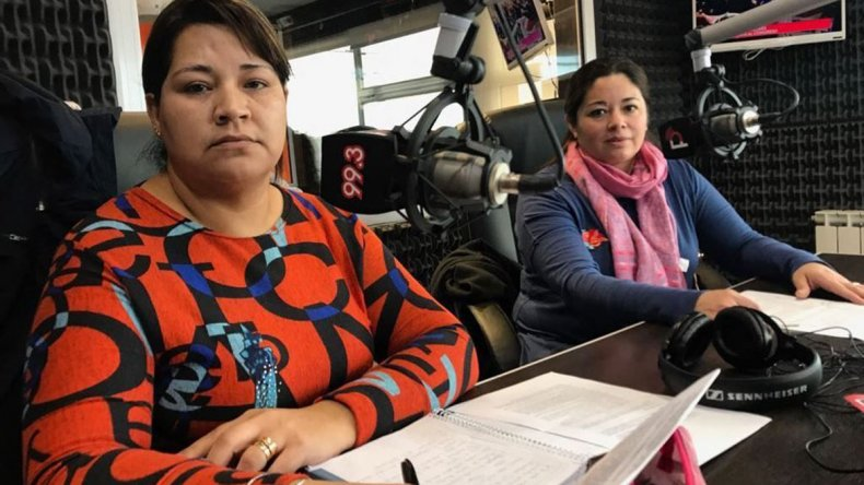 Vanesa Aguilera y Cristina Reynoso dieron a conocer la problemática que afronta un sector de trabajadores precarizados del Hospital Zonal.