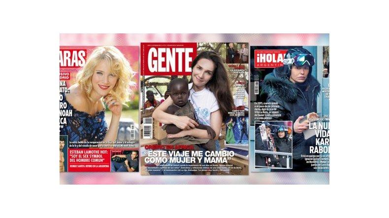 Natalia Oreiro en África y la polémica con Benjamín Vicuña en las tapas de revistas