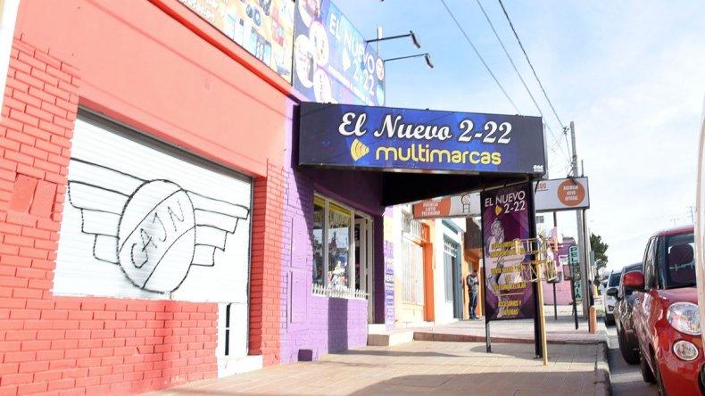 La zona comercial del Ceferino en la que Castro Flores y Rodríguez intentaron robar pero se encontraron con una férrea resistencia.